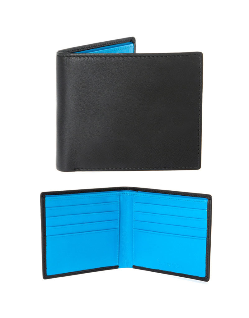Dents Billfold Wallet | Turquoise / Black