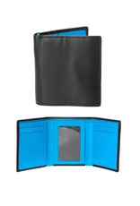 Dents Trifold Wallet | Turquoise / Black