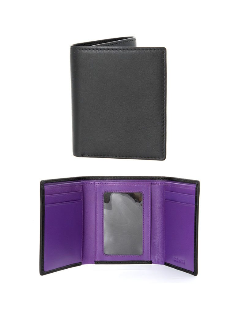 Dents Trifold Wallet | Amethyst / Black
