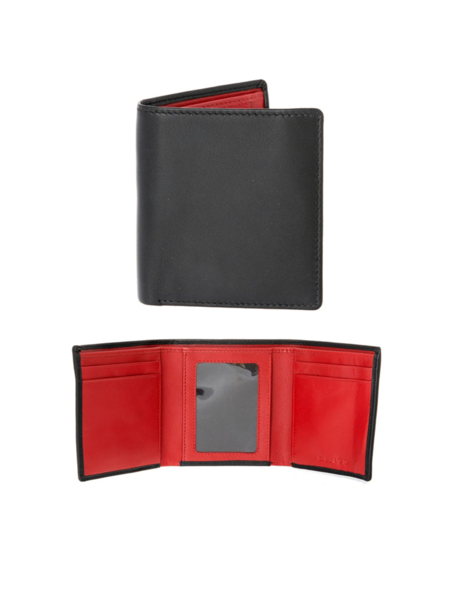 Dents Trifold Wallet | Berry / Black