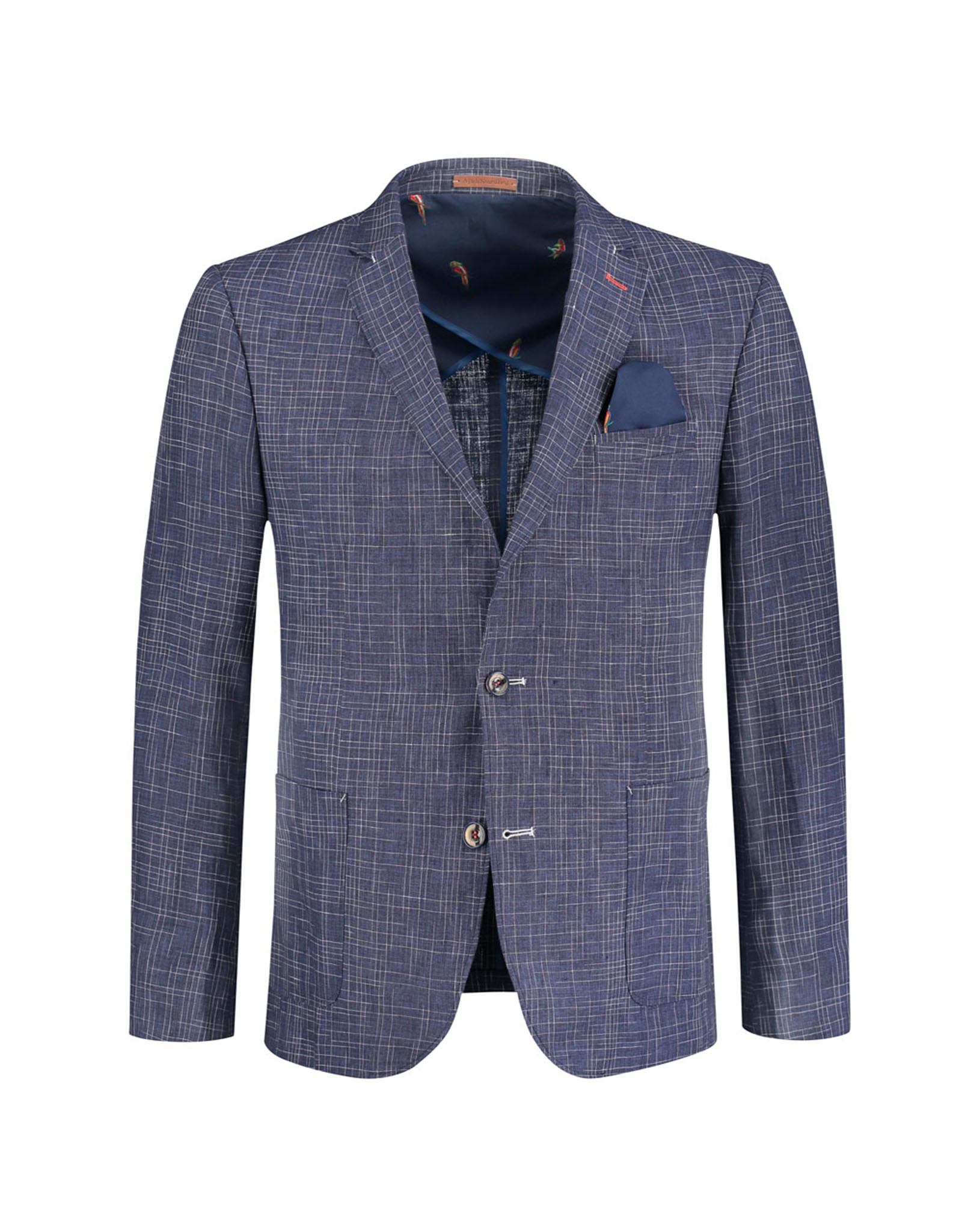 A Fish Named Fred Sports Jacket / Messy Check   Navy