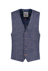 A Fish Named Fred Vest / Messy Check | Navy