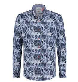 A Fish Named Fred Jungle Blue Printed Shirt | Blue