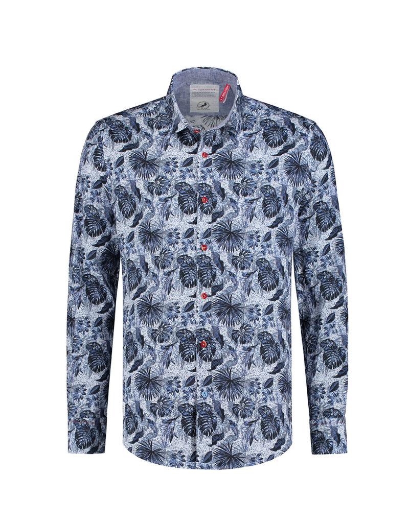 A Fish Named Fred Jungle Blue Printed Shirt | Blue