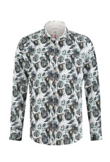 A Fish Named Fred Lion Printed Shirt | Navy
