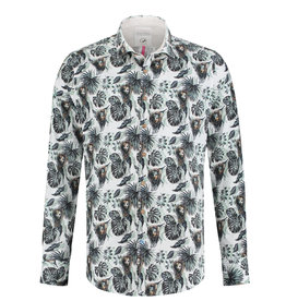 A Fish Named Fred Lion Printed Shirt | Green
