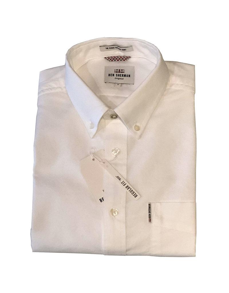 Ben Sherman Oxford Shirt   White