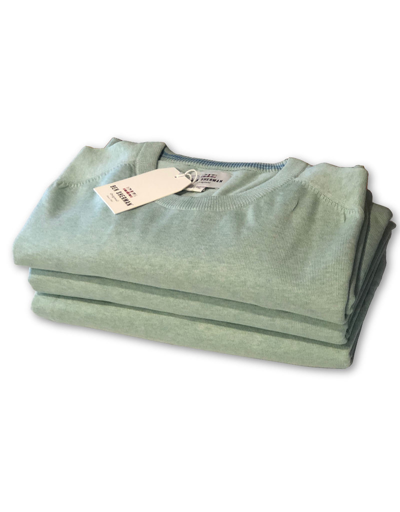 Ben Sherman Cotton Crew Neck Knit | Sea Green