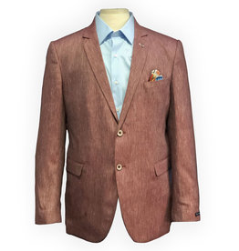 Thomson & Richards Red Yarn Dyed Linen Blend Sports Jacket