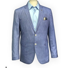Thomson & Richards Light Blue Yarn Dyed Linen Blend Sports Jacket