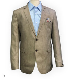 Thomson & Richards Taupe Yarn Dyed Linen Bl Sports Jacket