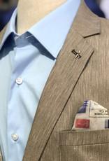 Thomson & Richards Taupe Yarn Dyed Linen Blend Sports Jacket