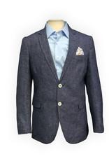 Thomson & Richards Blue Check Linen Blend Sports Jacket