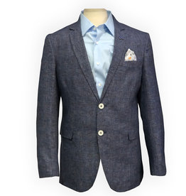 Thomson & Richards Blue Check Linen Blend Sports Jacket
