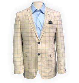 Thomson & Richards Tan / Blue Window Pane Check Sports Jacket
