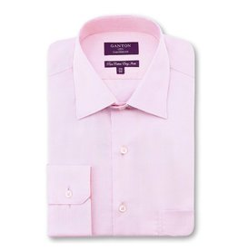 Ganton Taylor Check Dress Shirt | Pink