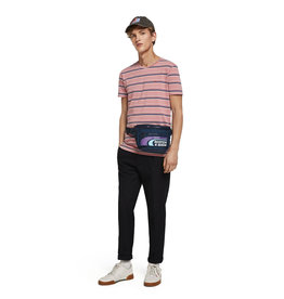 Scotch & Soda Classic Striped Cotton Elastane Crewneck | Pink / Navy
