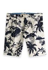 Scotch & Soda Chic Pleated Cotton Twill Bermuda Shorts