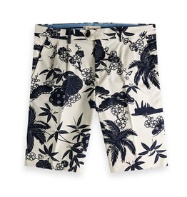 Scotch & Soda Chic Pleated Cotton Twill Bermuda Shorts