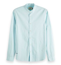 Scotch & Soda Collarless Shirt Soft Pastels   Mint