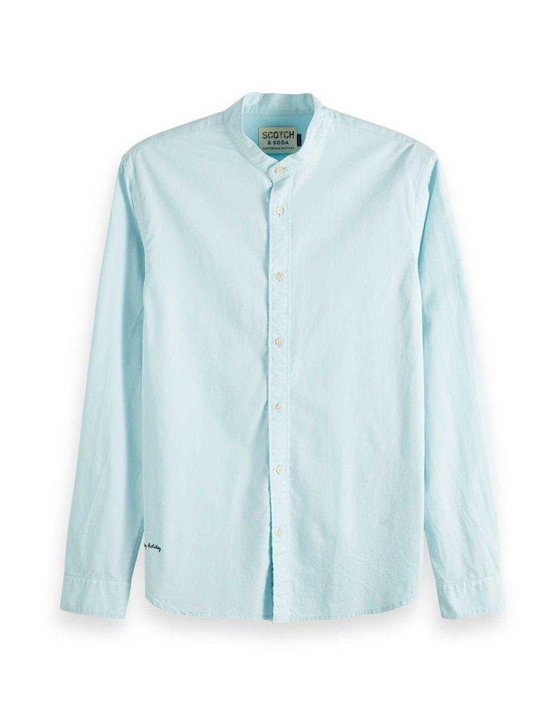 Scotch & Soda Collarless Shirt Soft Pastels | Mint