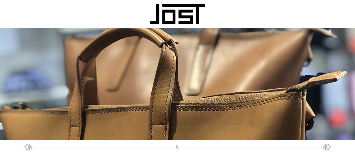 Jost Bags are available at all three Mitchell McCabe stores in South Melbourne