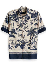 Scotch & Soda Short Sleeved Shirt with Placement Print