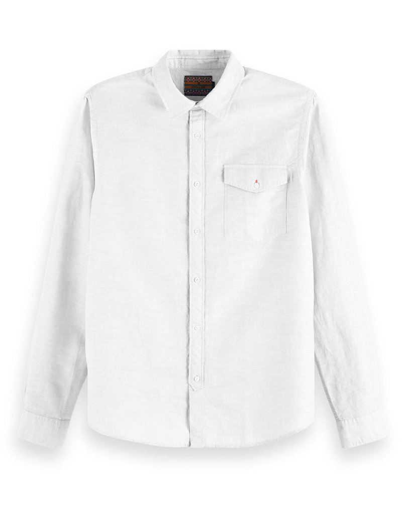 Scotch & Soda Classic Shirt Linen Quality | White