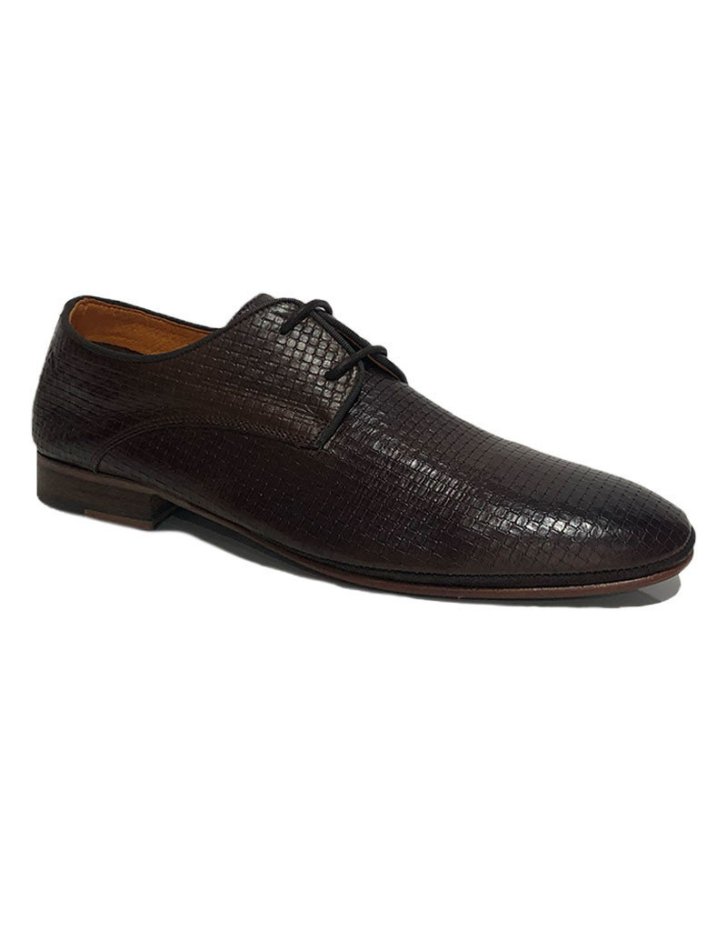 Ambitious Light- weight Leather Weave Dress Shoe | Mahogany