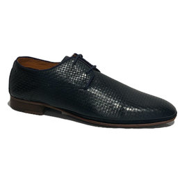 Ambitious Light- weight Leather Weave Dress Shoe | Navy