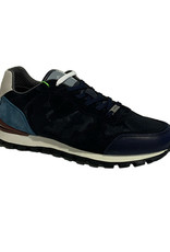 Ambitious Leather and Textile Casual Walking Shoe | Navy