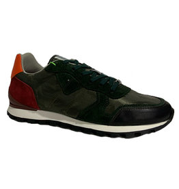 Ambitious Leather and Textile Casual Walking Shoe | Green / Petrol