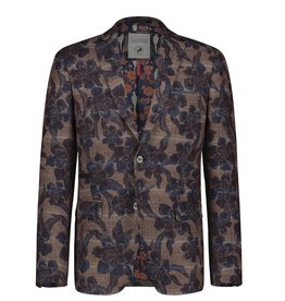 A Fish Named Fred Brown Flower Check Sports Jacket