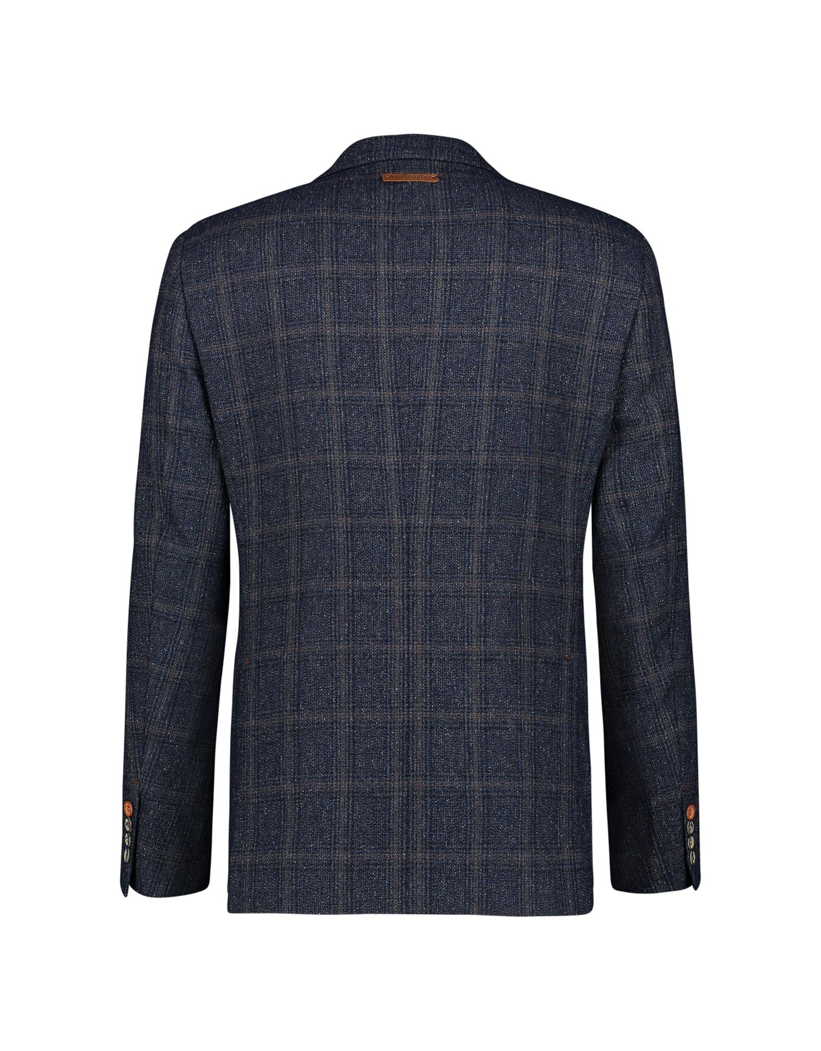 A Fish Named Fred Dark Blue Check Sports Jacket