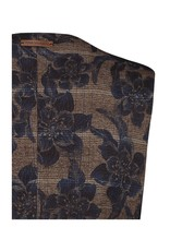 A Fish Named Fred Brown Flower Check Waistcoat