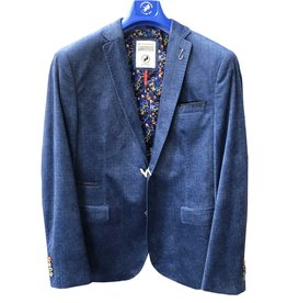 A Fish Named Fred Denim Blue Velvet Sports Jacket