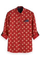 Scotch & Soda Classic All over Printed Shirt | Red
