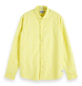 Scotch & Soda Oxford Shirt With All Over Print | Yellow