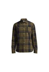 No Nationality Levon Cotton Long Sleeve Button Through Shirt | Wood Check