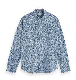 Scotch & Soda Printed Button-Through Shirt | Blue