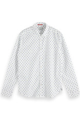 Scotch & Soda Printed Button-Through Shirt   White