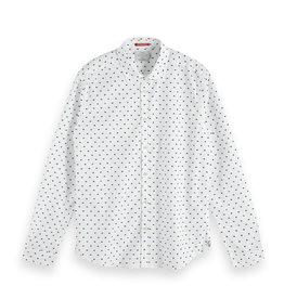 Scotch & Soda Printed Button-Through Shirt | White