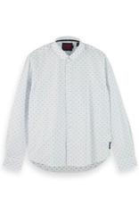 Scotch & Soda Fil Coupe Jacquard Button-Through Shirt | White