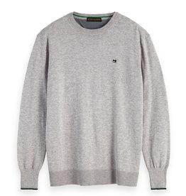 Scotch & Soda Classic Crewneck Cotton Pullover | Light Grey