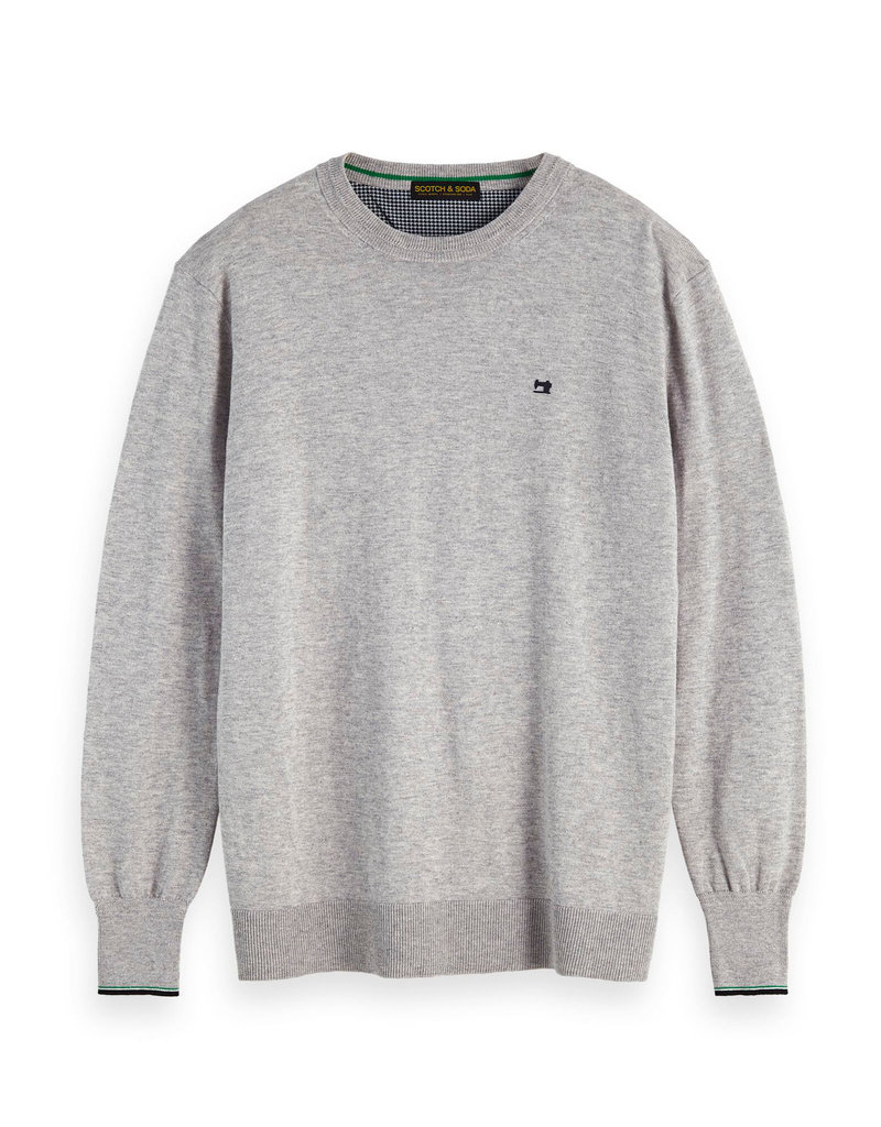 Scotch & Soda Classic Crewneck Cotton Pullover | Light Grey