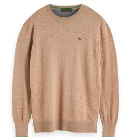 Scotch & Soda Classic Crewneck Cotton Pullover | Brown
