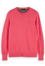 Scotch & Soda Classic Crewneck Cotton Pullover | Red