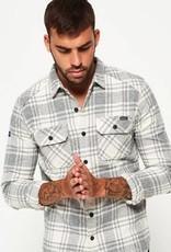 Superdry Milled Flannel Long Sleeve Shirt | Lavenham Grit Check