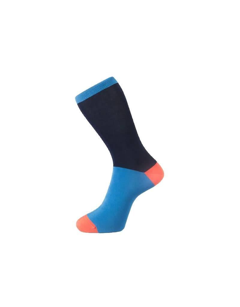 Block Colour Sock In Navy Blue