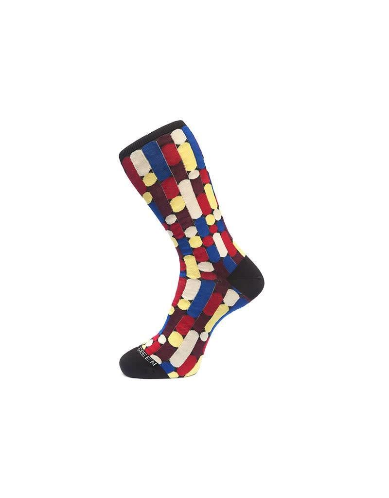 Batton Colour Sock In Brown